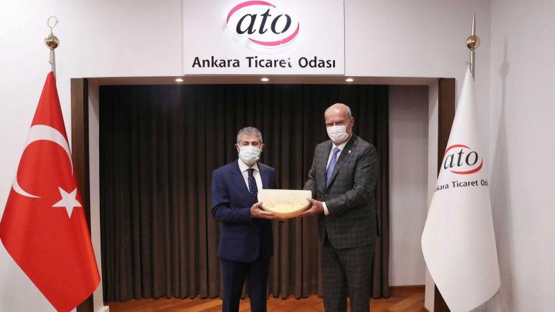 ATO Başkanı Baran Hazine Ve Maliye Bakan Yardımcısı Nureddin Nebati'yi Konuk Etti.