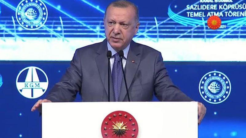 Kanal İstanbul'a İlk Temel…Cumhurbaşkanı Recep Tayyip Erdoğan Konuşuyor