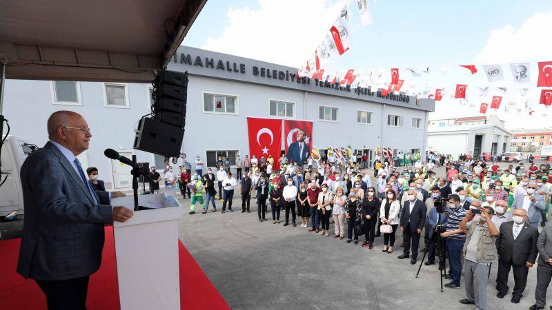 Yenimahalle Belediyesi'nin Temizlik İşleri Yeni Hizmet Binası Hizmete Açıldı