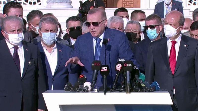 Cumhurbaşkanı Recep Tayyip Erdoğan, Mesajlarını Lefkoşa'dan Verdi: Kuzey-Güney Demek İstemiyoruz