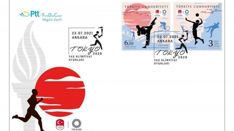 PTT'den Tokyo 2020 Yaz Olimpiyat Oyunları İçin Özel Pul ve Zarf