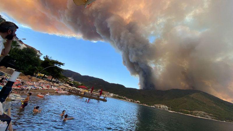 Son Dakika! Marmaris'teki yangın büyüyor!