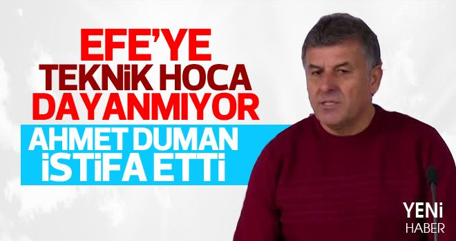Teknik Direktör Ahmet Duman istifa Etti