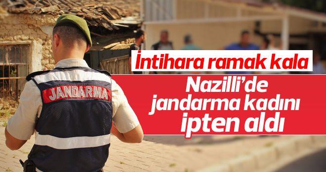 Nazilli'de Jandarma intihar eden kadını ipten aldı