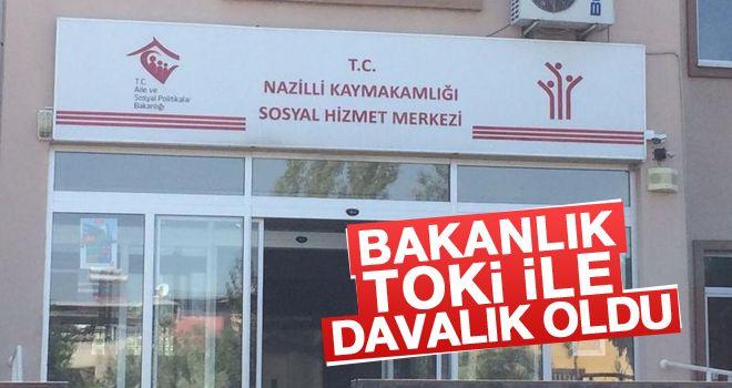 Bakanlık, TOKİ ile Nazilli'deki bina için davalık oldu