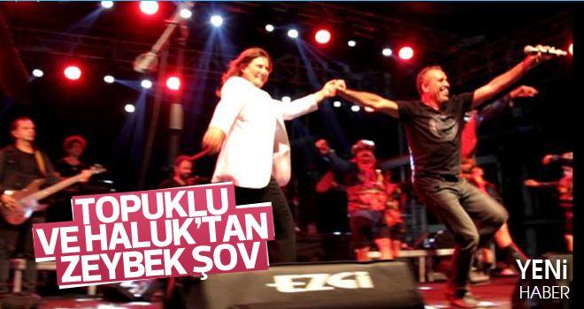 Başkan Çerçioğlu ve Haluk Levent'ten zeybek gösterisi