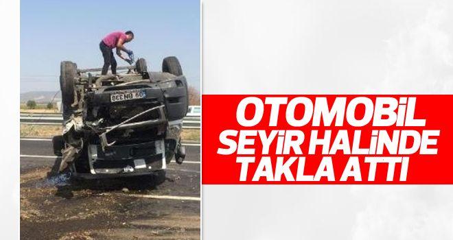 Aydın- İzmir Otoyolunda Kaza! Sürücü Ağır Yaralı