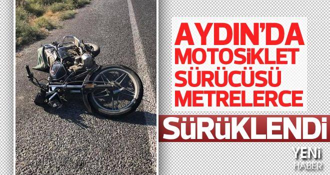 Motosikletinin tekeri kilitlenen sürücü ağır yaralandı