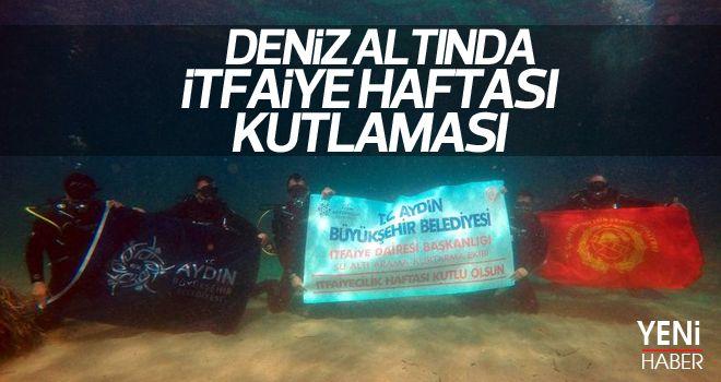 İtfaiye Haftası'nı denizin altında kutladılar