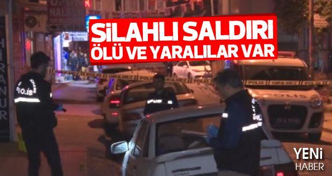 Bahçelievler'de silahlı saldırı: 1 ölü 2 yaralı