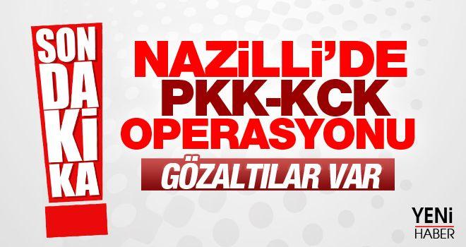 Nazilli'de PKK/KCK operasyonu