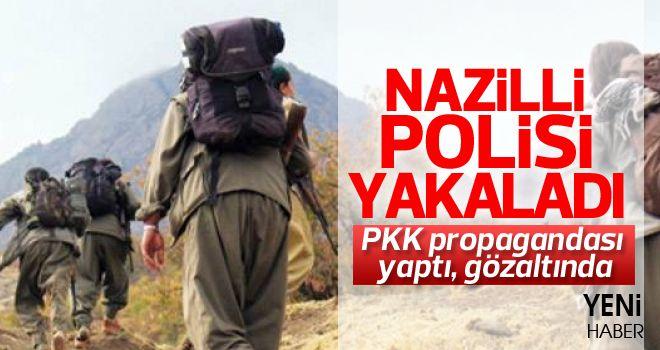 Nazilli'de PKK propagandası yapan kişi yakalandı