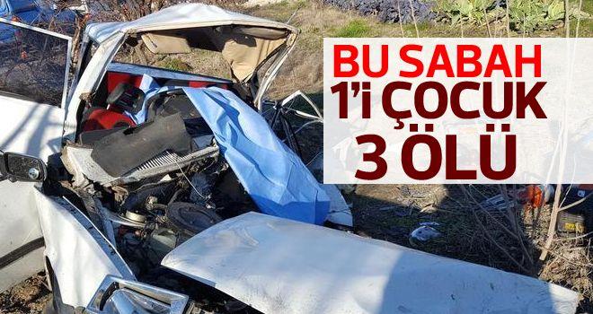 Otomobil ile kamyonet çarpıştı: 1'i çocuk 3 ölü, 2 yaralı