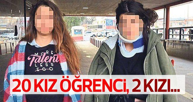 20 kız, 2 kızı demir çubuklarla dövdü