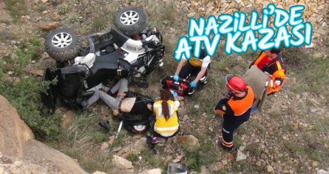 Aydın'da ATV devrildi: 2 yaralı