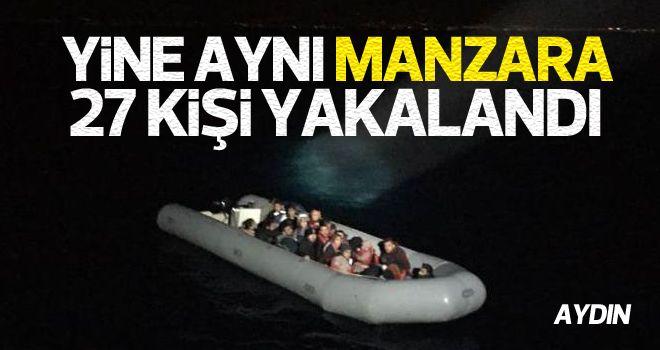 Kuşadası'nda 27 kaçak göçmen yakalandı
