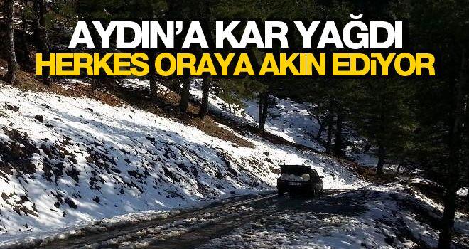Aydın'a kar yağdı