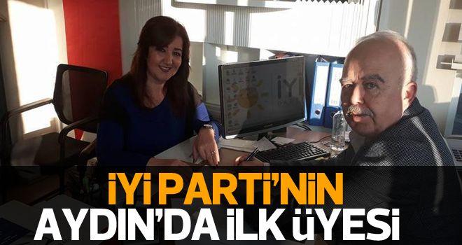 İYİ Parti'nin Aydın'daki ilk üyesi Taner oldu