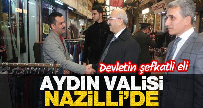 Aydın Valisi Köşger Nazilli'de