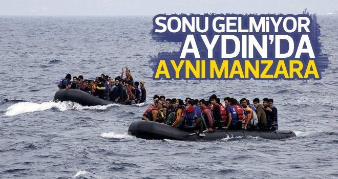 25'i çocuk 56 Suriyeli göçmen yakalandı