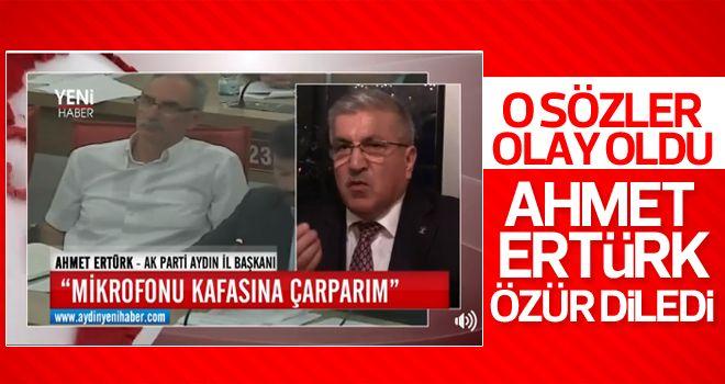 """AK Parti İl Başkanı Ertürk; """"Özür Dilerim"""""""