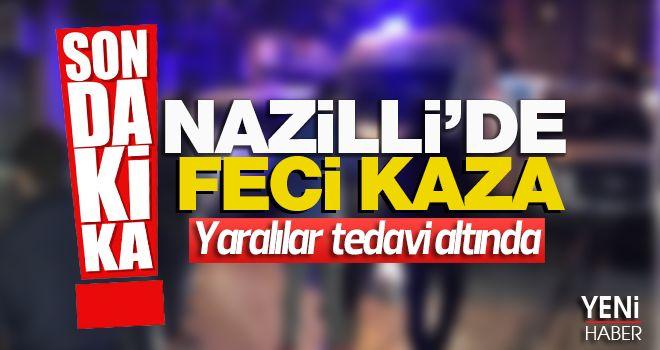 Nazilli'de otomobil takla attı