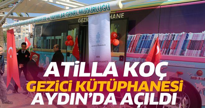 Aydın'da Atilla Koç Gezici Kütüphanesi açıldı