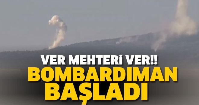 Darmık Dağı bombardımana alındı