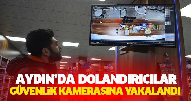Aydın'da Dolandırıcılar Güvenlik Kamerasına Yakalandı