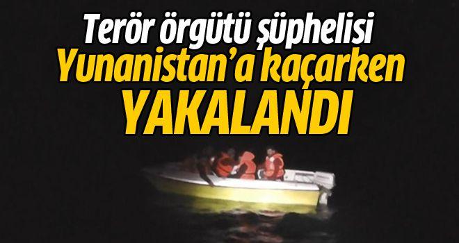 Terör örgütü şüphelisi Yunanistan'a kaçarken yakalandı