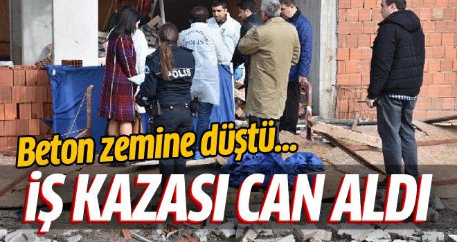 İzmir'de inşaat işçisi malzeme çekerken öldü