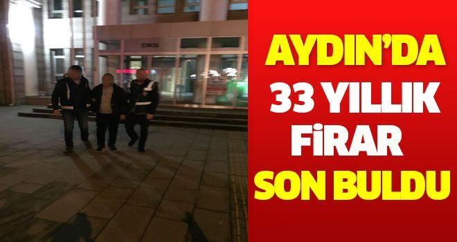 Aydın'da 33 Yıllık Firar Son Buldu