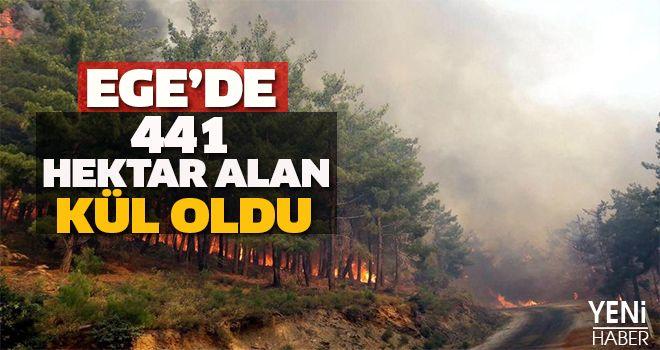 Ege'de 441 Alan Hektar Alan Kül Oldu