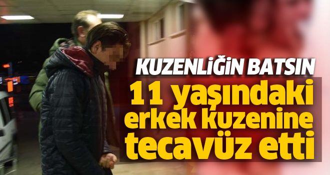 11 yaşındaki erkek kuzenine tecavüz etti