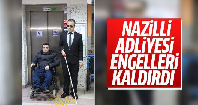"""Nazilli Adalet Sarayı'na """"Erişilebilirlik Belgesi"""" verildi"""