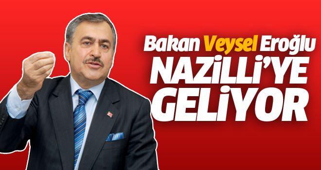 Bakan Eroğlu Aydın'a geliyor