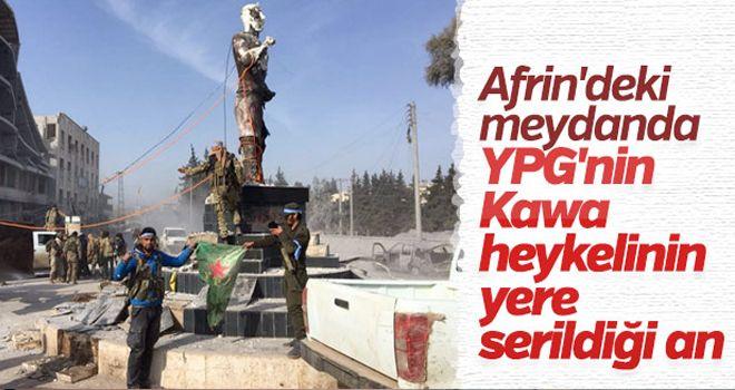 Afrin'deki heykeller yıkılıyor