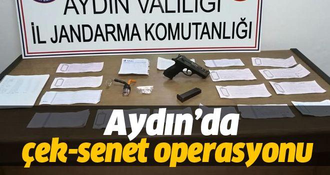 Aydın'da çek-senet operasyonu