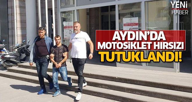 Aydın'da motosiklet hırsızı tutuklandı!
