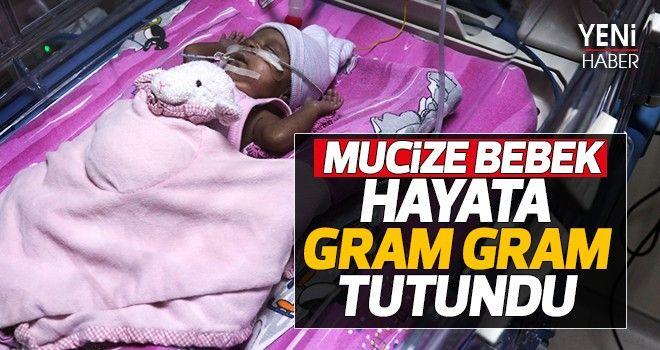 Mucize bebek hayata gram gram tutundu