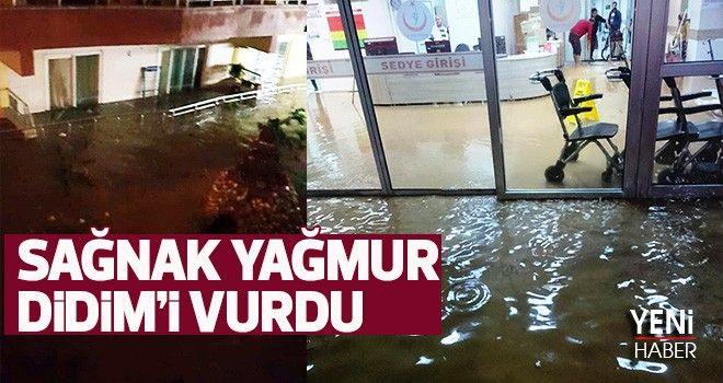 Sağnak yağmur Didim'i vurdu