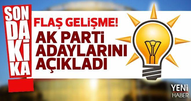 AK Parti adaylarını açıkladı
