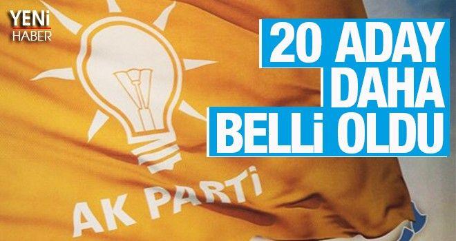 AK Parti'de 20 aday daha açıklandı