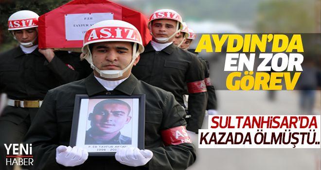 Sultanhisar'da kazada ölen asker son yolculuğuna uğurlandı