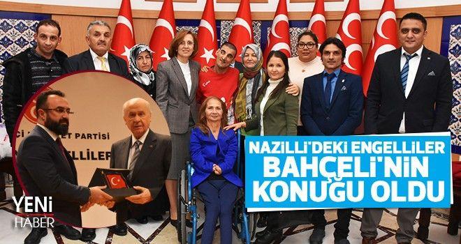 Nazilli'deki engelliler Bahçeli'nin konuğu oldu