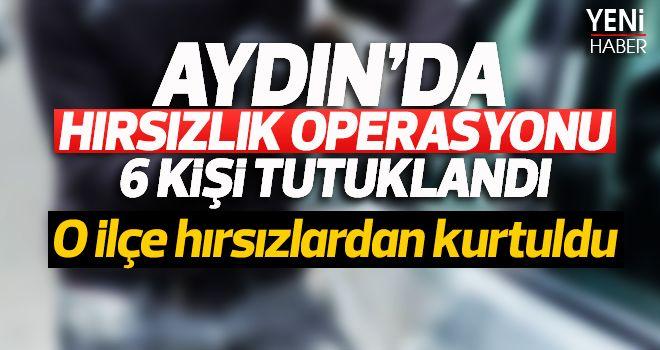 Aydın'da hırsızlık operasyonu: 6 kişi tutuklandı