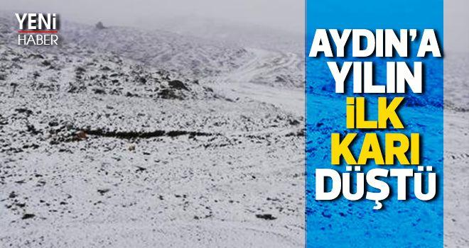 Aydın'a yılın ilk karı yağdı