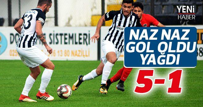 Nazilli Belediyespor gol oldu yağdı