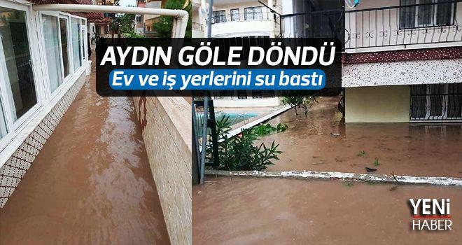 Aydın'da su baskını