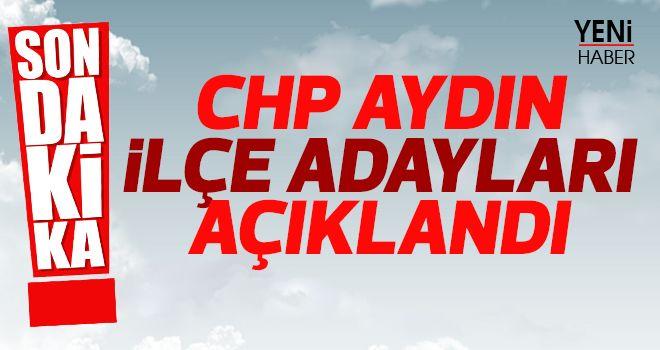 CHP Aydın'da son dakika